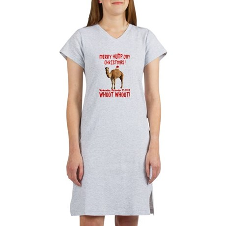 Merry Hump Day Camel Christmas Women's Nightshirt