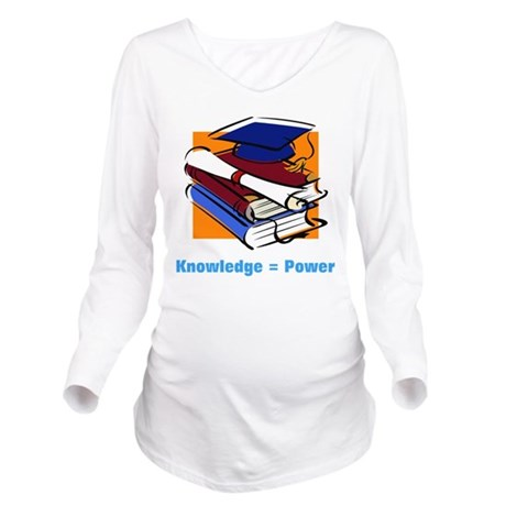 knowledge.png Long Sleeve Maternity T-Shirt
