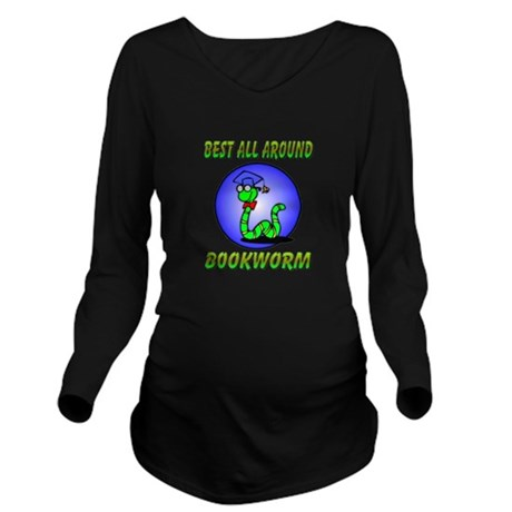 bookworm.png Long Sleeve Maternity T-Shirt