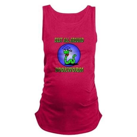 bookworm.png Maternity Tank Top