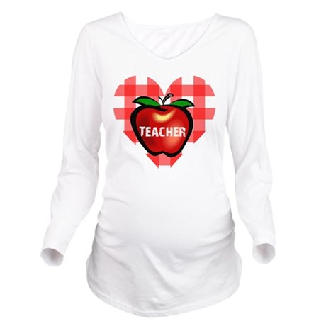 teacherapple.png Long Sleeve Maternity T-Shirt