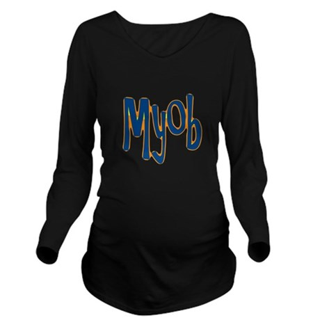 myob1.png Long Sleeve Maternity T-Shirt