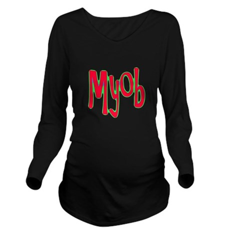 myob1d.png Long Sleeve Maternity T-Shirt