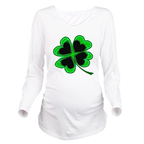 shamrock4a.png Long Sleeve Maternity T-Shirt