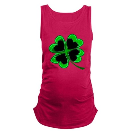 shamrock4a.png Maternity Tank Top