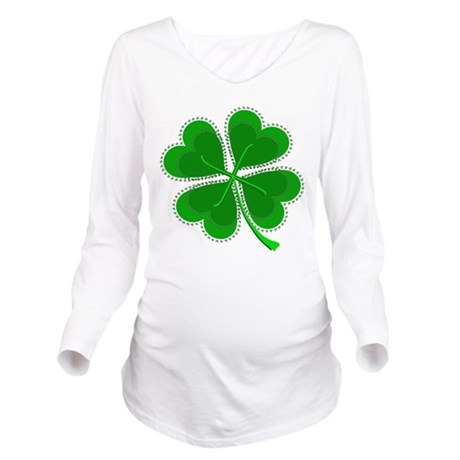 shamrock4a6.png Long Sleeve Maternity T-Shirt
