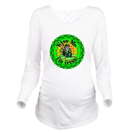 irishkaleid1a.png Long Sleeve Maternity T-Shirt