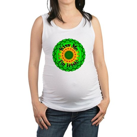 irishkaleid1.png Maternity Tank Top