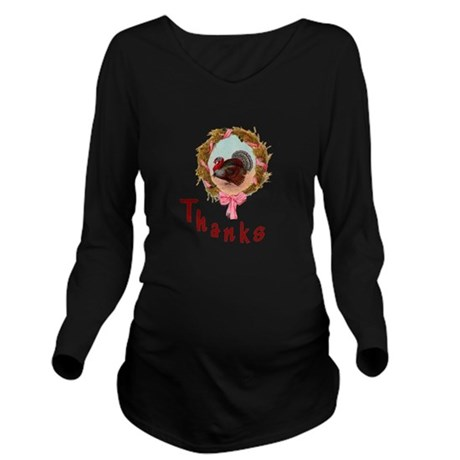 turkey1a.png Long Sleeve Maternity T-Shirt