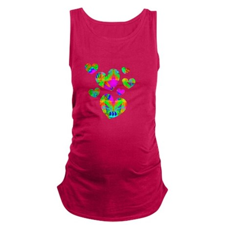 hearts5.png Maternity Tank Top