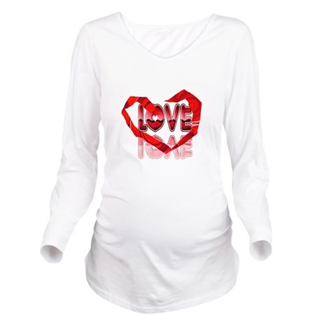 heart7e.png Long Sleeve Maternity T-Shirt
