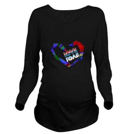 heart7a.png Long Sleeve Maternity T-Shirt