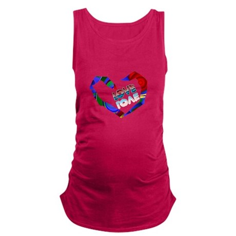 heart7a.png Maternity Tank Top
