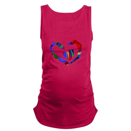 heart7.png Maternity Tank Top