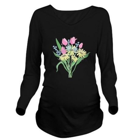 bouquet Long Sleeve Maternity T-Shirt