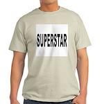 Superstar (Front) Ash Grey T-Shirt