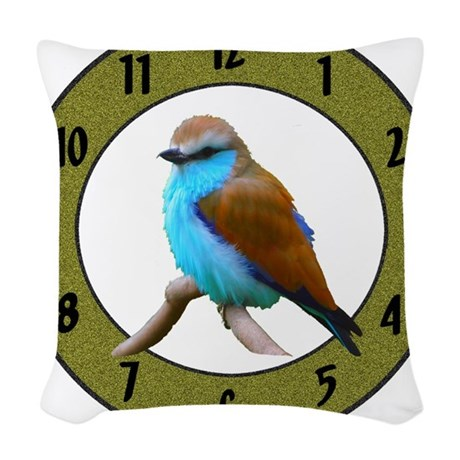Clocks Woven Throw Pillow