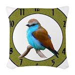 Clocks Woven Throw Pillow