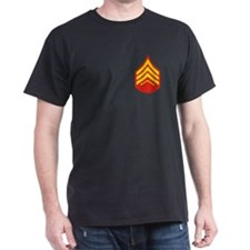 Marine Sergeant<BR> Black T-Shirt