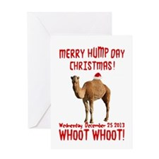 Merry Hump Day Camel Christmas Greeting Cards