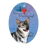 Swedish Vallhund Oval Ornament