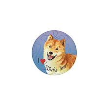 Shiba Inu Mini Button