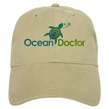 Ocean Doctor Logo (for dark background) Baseball Cap