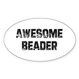 Awesome Beader Oval Decal
