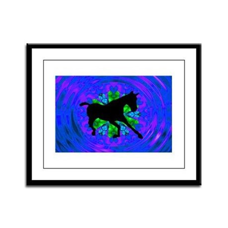Kaleidoscope Colt Framed Panel Print