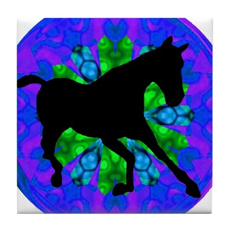 Kaleidoscope Colt Tile Coaster