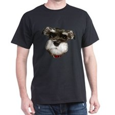mini_schnauzer_face001 T-Shirt