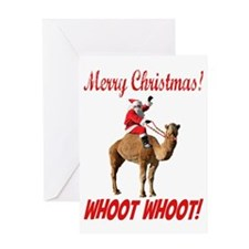 Merry Christmas Santa On Hump Day Camel Greeting C