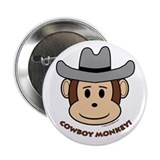 Cowboy Monkey 2.25&quot; Button (10 pack)
