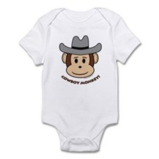 Cowboy Monkey Infant Bodysuit
