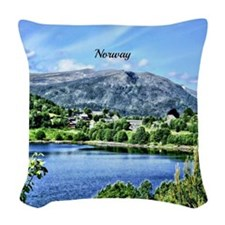 Beautiful Norway Woven Throw Pillow