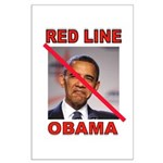 RED LINE OBAMA Posters