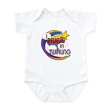 I Believe In Twirling Cute Believer Design Infant