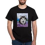 Malamute and sled team Dark T-Shirt