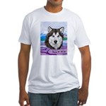 Malamute and sled team Fitted T-Shirt