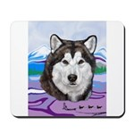 Malamute and sled team Mousepad