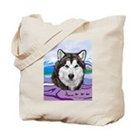 Malamute and sled team Tote Bag