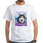 Malamute and sled team White T-Shirt