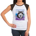 Malamute and sled team Women's Cap Sleeve T-Shirt