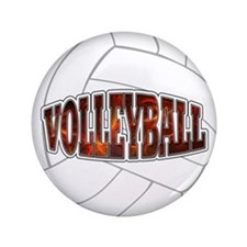 "Volleyball 3.5"" Button"