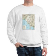 Myanmar Burma Map Sweatshirt