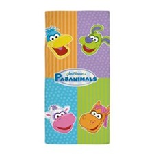Pajanimals Faces Beach Towel