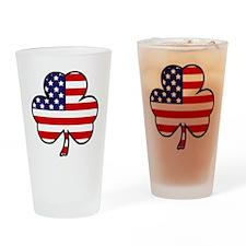 'USA Shamrock' Drinking Glass