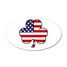 'USA Shamrock' 35x21 Oval Wall Decal