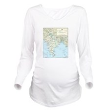 India Map Long Sleeve Maternity T-Shirt