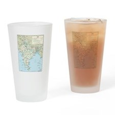 India Map Drinking Glass